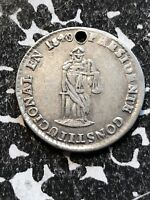1840 BOLIVIA PROCLAMATION COINAGE MEDAL 1 SOL SILVER  LOTP009 BRN18.1