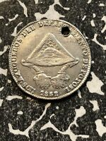 1852 BOLIVIA PROCLAMATION COINAGE MEDAL 1 SOL SILVER  LOTP023 BRN53