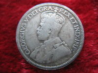 1919 CANADA 10 CENT COIN HISTORIC SILVER COIN  .0691 OZ. FAST U.S. SHIPPING