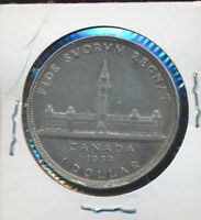 CANADA SILVER DOLLAR   1939 ONE YEAR TYPE