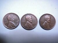 1948 LINCOLN WHEAT PENNIES 3 P D S COLLECTIBLE COINS