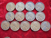 LOT OF 13 DIFFERENT LINCOLN WHEAT BACK