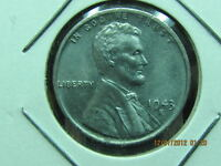 1943  S LINCOLN WHEAT STEEL CENT   BU COIN