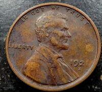 1921 S LINCOLN WHEAT CENT   SOLID F - VF  COIN