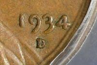 1934-D DOUBLED DIE DDO PCGS AU55 LINCOLN CENT ERROR COPPER WHEAT CENT FREE SHIP
