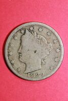 1889 LIBERTY V NICKEL 5 CENTS EXACT COIN SHOWN FLAT RATE SHIPPING OCE 049