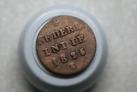 NETHERLANDS INDIES USA COLONIAL NEW YORK 1/2 STUIVER 1825 S A75 Z4121