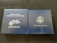 2009 ABRAHAM LINCOLN PROOF SILVER DOLLAR IN ORIGINAL MINT PACKAGE & COA