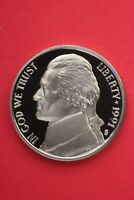 1991 S PROOF THOMAS JEFFERSON NICKEL EXACT COIN SHOWN FLAT RATE SHIPPING TOM21
