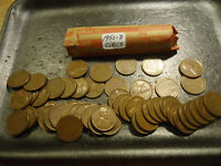 1950 D ROLL OF CIRCS LINCOLN WHEAT CENTS    COMBINED SHIPPING