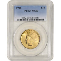 US GOLD $10 INDIAN HEAD EAGLE   PCGS MS63   RANDOM DATE