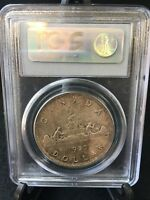 1935   PCGS GRADED CANADIAN SILVER DOLLAR   MS 65
