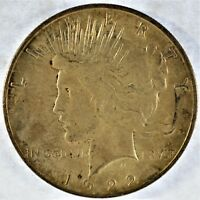 1922-D COLLECTIBLE SILVER PEACE DOLLAR B13.8