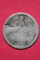 CULL 1854 P SEATED LIBERTY HALF DIME EXACT COIN SHOWN FLAT RATE SHIPPING OCE 185