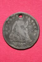 CULL 1857 P SEATED LIBERTY HALF DIME EXACT COIN SHOWN FLAT RATE SHIPPING OCE 195
