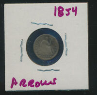 SEATED HALF DIME   1854   C   SPECIAL PRICE