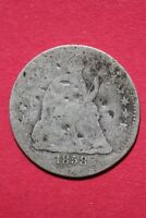 CULL 1858 P SEATED LIBERTY HALF DIME EXACT COIN SHOWN FLAT RATE SHIPPING OCE 192