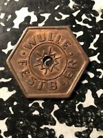 UNDATED WULLE GERMANY BEER TOKEN LOTN393 FESTBIER