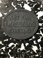 1938/39/40 NURNBERG FURTH GERMANY BEER TOKEN LOTN395 BRAUEREI VEREINIG.