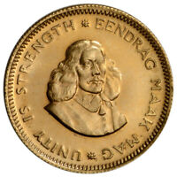 SOUTH AFRICA GOLD 1 RAND  .1178 OZ    BU/PROOF   1961 1983