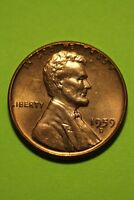 RED BU 1959 D LINCOLN MEMORIAL CENT EXACT COIN SHOWN FLAT RATE SHIPPING TOM17