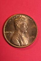 RED BU 1970 P LINCOLN MEMORIAL CENT EXACT COIN SHOWN FLAT RATE SHIPPING TOM16