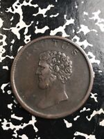 1809  GREAT BRITAIN BRUTUS HALF 1/2 PENNY TOKEN LOTX7662