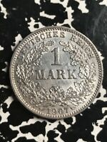 1907 E GERMANY 1 MARK LOTX7683 SILVER  HIGH GRADE  BEAUTIFUL  BETTER DATE