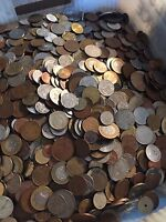 HUGE MIXED BULK LOT OF 100 ASSORTED WORLD INTERNATIONAL COINS  NICE STARTER LOT