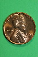 1958 D RED BU LINCOLN WHEAT CENT PENNY EXACT COIN SHOWN FLAT RATE SHIPPING TOM18