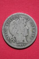 1914 P BARBER LIBERTY DIME EXACT COIN PICTURED FLAT RATE SHIPPING OCE 024