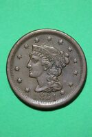 1851 BRAIDED HAIR LARGE CENT EXACT COIN PICTURED FLAT RATE SHIPPING OCE375