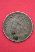 1856 P SEATED LIBERTY HALF DIME EXACT COIN PICTURED FLAT RATE SHIPPING OCE010