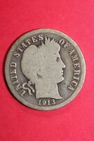 1913 P BARBER LIBERTY DIME EXACT COIN PICTURED FLAT RATE SHIPPING OCE 183