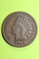 1909 INDIAN HEAD CENT PENNY EXACT COIN PICTURED FLAT RATE SHIPPING OCE 1130