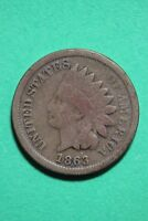 1863 INDIAN HEAD CENT PENNY EXACT COIN PICTURED FLAT RATE SHIPPING OCE216