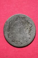 LOW GRADE 1887 P SEATED LIBERTY DIME EXACT COIN SHOWN FLAT RATE SHIPPING OCE 393