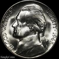 1945 S JEFFERSON SILVER WAR NICKEL 5C   BU UNCIRCULATED   LUSTER  US COIN MQ