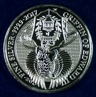 2017 GREAT BRITAIN 5 GRIFFIN OF EDWARD QUEENS BEAST SILVER C