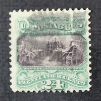 CKSTAMPS: US STAMPS COLLECTION SCOTT120 24C PICTORIAL USED TINY THIN ON GRILL