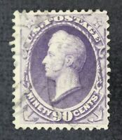 CKSTAMPS: US STAMPS COLLECTION SCOTT218 90C PERRY USED TINY THIN CV$250