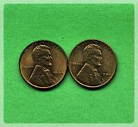 LOT OF TWO 2 LINCOLN WHEAT CENTS.  1944 LP-1