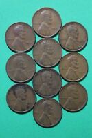 LOT OF 10 1933 P LINCOLN WHEAT CENTS EXACT COINS SHOWN FLAT RATE SHIPPING OCE111