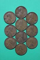 LOT OF 10 1933 P LINCOLN WHEAT CENTS EXACT COINS SHOWN FLAT RATE SHIPPING OCE067