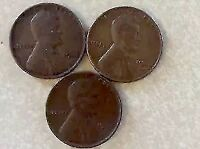 3 LINCOLN CENTS 1946 1946D AND 1946S LC338