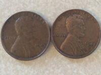 2 LINCOLN CENTS 1947D AND 1947S LC339