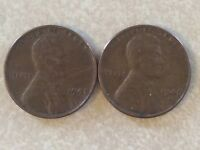 2 LINCOLN CENTS 1948 AND 1948D LC340