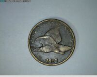 1857 1C FLYING EAGLE CENT  25-219