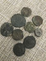 UNRESEARCHED ROMAN COIN LOT OF 9