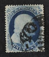 CKSTAMPS: US STAMPS COLLECTION SCOTT20 1C FRANKLIN USED TINY THIN CV$275